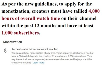 As per the new guidelines, to apply for the monetization